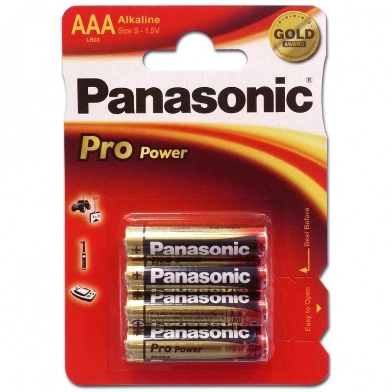 Panasonic LR03 (AAA) alkáli elem, 1,5V, 4db/csomag