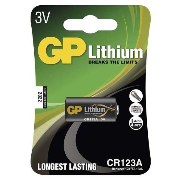 GP CR123A 3V Lithium elem