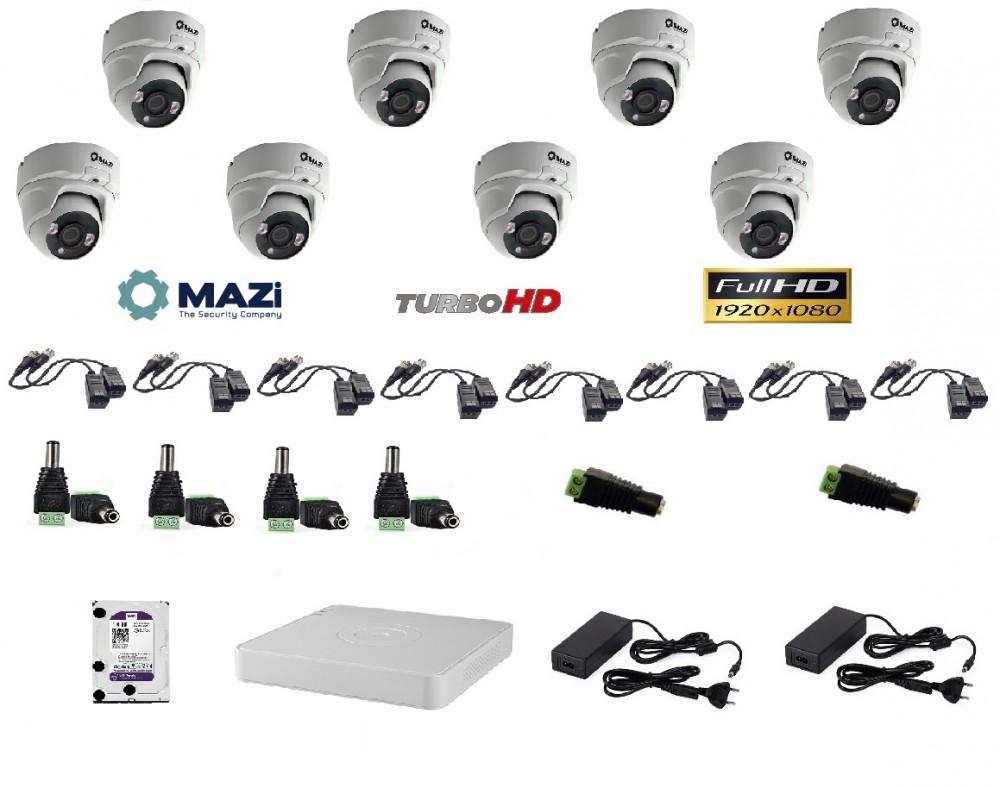 MAZi 8 kamerás szett Full HD (1920x1080)