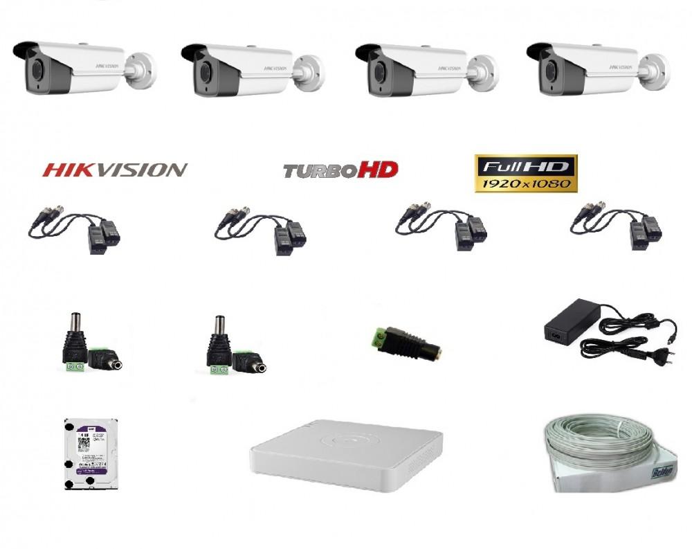 Hikvision 4 kamerás szett Full HD (1920x1080)