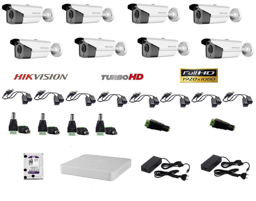Hikvision 8 kamerás szett Full HD (1920x1080)