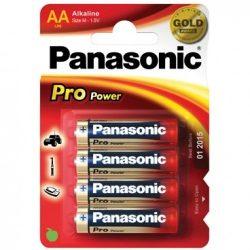 Panasonic LR6 (AA) 1,5V alkáli elem, 4db/csomag