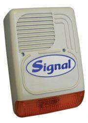 Signal PS128-1 kültéri hang-fényjelző (doboz, elektronika nélkül)