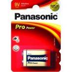 Panasonic PRO POWER 9 V, 6LR61, alkáli elem