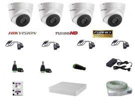 Hikvision 4 Dome kamerás szett Full HD (1920x1080)