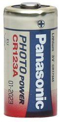 Panasonic CR123A 3V lithium elem
