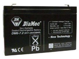 DiaMec 6V 7,2Ah akkumulátor DM6-7.2