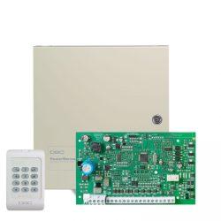 DSC PC1404 Központ PC1404RKZ billentyűzettel, fémdobozzal