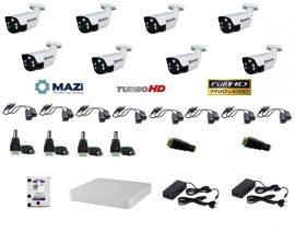 MAZi 8 compact kamerás szett Full HD (1920x1080) 2MP Kültéri IR 2,8-12mm 5db power IR led