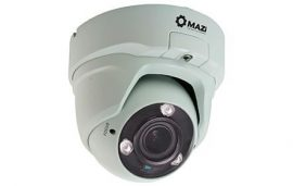 MAZi TVN 21SMVR4 4in1 kivitel(TVI/CVI/AHD/CVBS) 2MP HD Kültéri IR dome 2,8-12mm, 3db power IR led