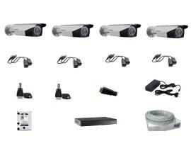 Hikvision 4 kamerás szett Full HD (1920x1080) 2,8-12mm, IR30m