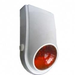 Beltéri műanyag házas hang-fényjelző narancssárga búrával B03