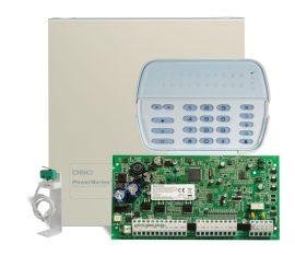 DSC PC1616PCBE központ, PK5516 kezelővel fémdobozzal, tamper kapcsolóval