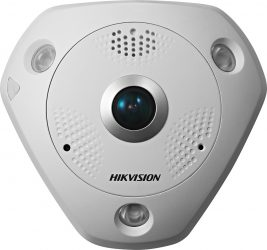 Hikvision DS-2CD6362F-IVS (1.27mm) 6 MP 360° vandálbiztos IR Smart IP panorámakamera, hang be- és kimenet