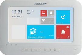 Hikvision DS-KH6310-WL IP video-kaputelefon beltéri egység, 7 LCD kijelző, 800x480 felbontás, WiFi