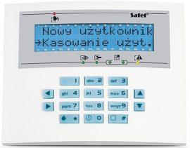 Satel INT-KLCDL-BL LCD kezelő INTEGRA központokhoz, kék háttérfény és kijelző