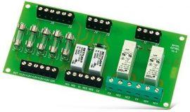Satel MP-1 Relé modul (4 relé), 5 biztosíték