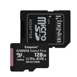 Kingston SDCS2/128GB 128GB micro SD kártya, microSDXC, Class 10 UHS-I, adapterrel